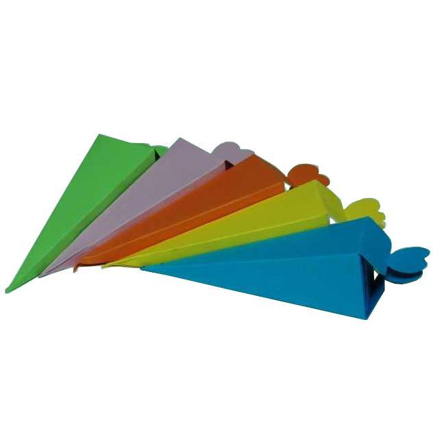 Χάρτινο χωνάκι πυραμίδα για κουφέτα 14x4.5x4.5cm