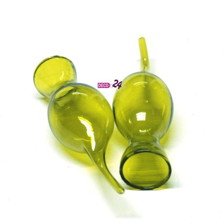 Βαζάκια μίνι Πράσινα 25x120mm Σετ/6