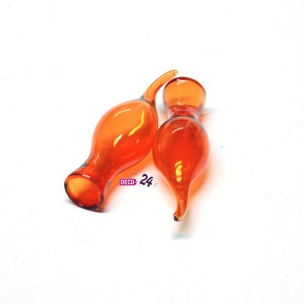 Βαζάκια μίνι Πορτοκαλί 17x80mm Σετ/6