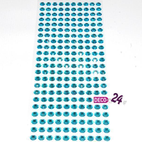 Αυτοκόλλητες Πέρλες Σιέλ Διάφανες 8mm