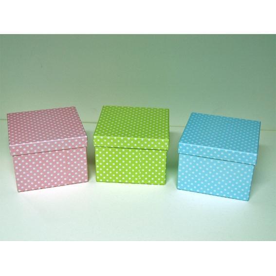 Κουτί χάρτινο πουά 12cm