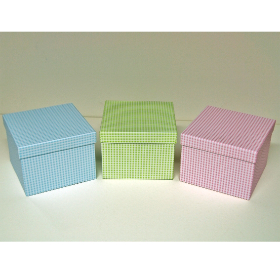Κουτί χάρτινο καρώ 12cm