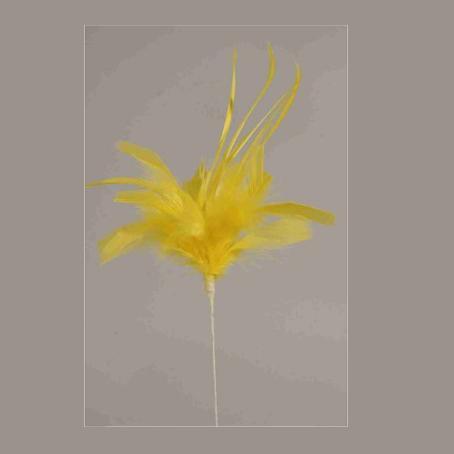 Φτερά σε στικ 40cm Κίτρινα