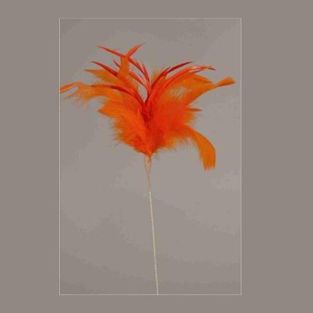 Φτερά σε στικ 40cm Πορτοκαλί