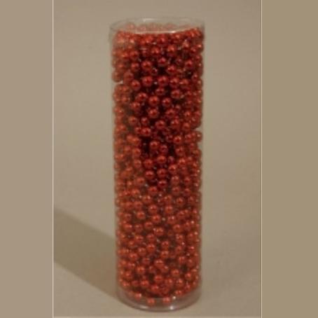 Γιρλάντα Με Πέρλες 8mm Κόκκινη