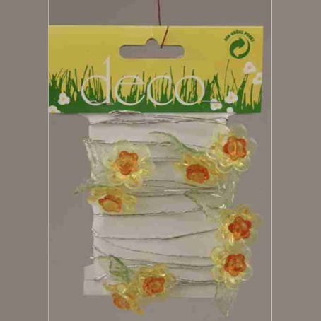 Γιρλάντα Με Κίτρινα Λουλούδια 270cm