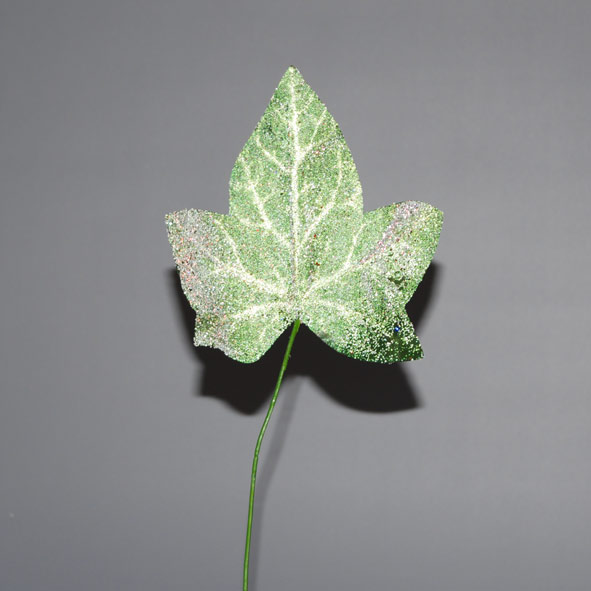 ivy leaf with ice 35cm