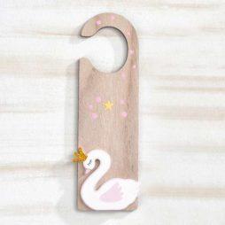 Ξύλινο Κρεμαστό Πόρτας Κύκνος 26,5cm